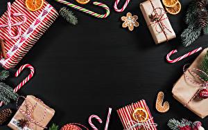 Fotos Neujahr Kekse Dauerlutscher Vorlage Grußkarte Geschenke