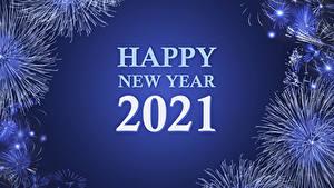 Hintergrundbilder Neujahr Feuerwerk 2021 Text Englisch
