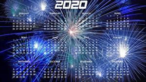 Fotos Neujahr Feuerwerk Kalender 2020