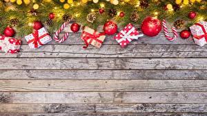Fotos Neujahr Geschenke Bretter Vorlage Grußkarte