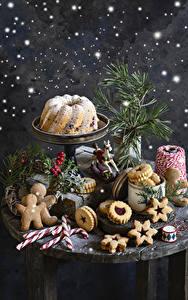 Hintergrundbilder Neujahr Backware Keks Kekse Dauerlutscher Beere Stillleben Design