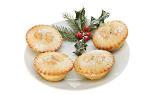 Hintergrundbilder Neujahr Backware Keks Muffin Weißer hintergrund