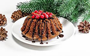 Hintergrundbilder Neujahr Keks Beere Teller Ast