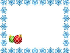 Wallpaper New year Snowflakes Balls Template greeting card