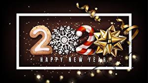 Bilder Neujahr Schneeflocken Schleife Text Englischer Lichterkette 2020