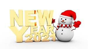 Fotos Neujahr Schneemänner 2021 Text Englischer
