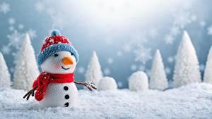 Hintergrundbilder Neujahr Schneemänner Schnee