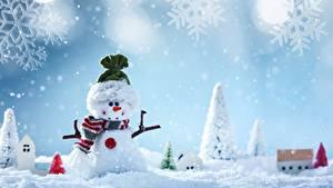 Bilder Neujahr Schneemänner Schneeflocken