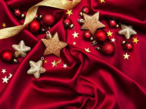 Wallpapers New year Little stars Balls Woven fabric
