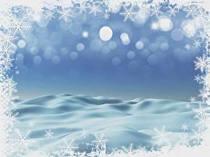 Bilder Neujahr Vorlage Grußkarte Schneeflocken Schnee