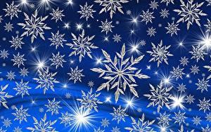 Fotos Neujahr Textur Schneeflocken