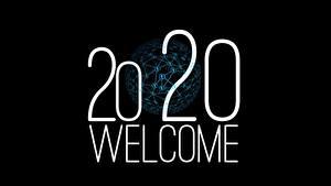 Bilder Neujahr Schwarzer Hintergrund 2020 Text Englischer WELCOME
