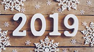 Hintergrundbilder Neujahr Bretter 2019 Schneeflocken