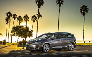 Picture Chrysler Grey Palm trees Hybrid vehicle 2017 Pacifica Hybrid