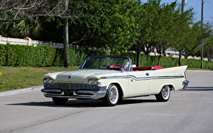 Pictures Chrysler Retro White Cabriolet 1959 Windsor Convertible