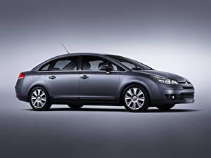 Hintergrundbilder Citroen Graue Metallisch  Autos