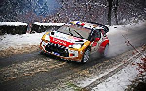 Hintergrundbilder Citroen Fahrzeugtuning Straße Rallye DS3 WRC Sebastien Loeb Total Autos