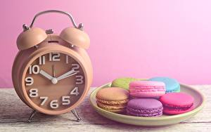 Picture Clock Alarm clock French macarons Food