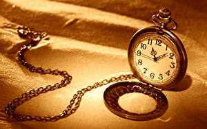 Pictures Clock Pocket watch Chain Sand