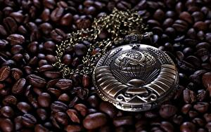 Bilder Uhr Taschenuhr Kaffee Getreide UdSSR Hammer und Sichel