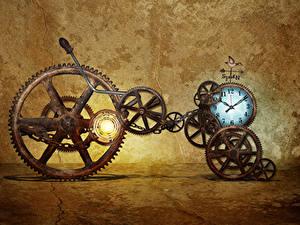 Hintergrundbilder Uhr Retro Zahnrad