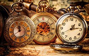 Fotos Zifferblatt Uhr Taschenuhr Nahaufnahme Drei 3