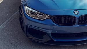 Bureaubladachtergronden Van dichtbij BMW Koplampen Blauw kleur F82 Adaptive LED Auto