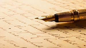 Picture Closeup Ballpoint pen Letter message