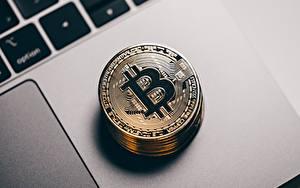 デスクトップの壁紙、、クローズアップ、Bitcoin、貨幣、コイン、金色、