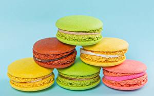 Tapety na pulpit Zbliżenie Kolorowym tle Makaron (ciasteczka) Kolorowe żywność