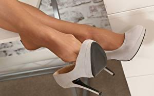 桌面壁纸,,特寫,腿,皮鞋,连裤袜,女孩