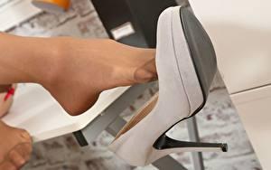 桌面壁纸,,特寫,腿,皮鞋,连裤袜,年輕女性