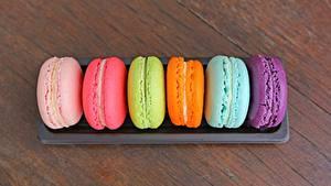 Fotos Hautnah Macarons Mehrfarbige Lebensmittel