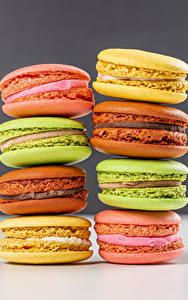 Tapety na pulpit Z bliska Makaron (ciasteczka) Kolorowe Jedzenie