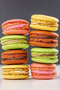 Hintergrundbilder Großansicht Macarons Mehrfarbige Lebensmittel