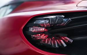 Bilder Nahaufnahme Makrofotografie Aston Martin Fahrzeugscheinwerfer Zagato V12 Twin-Turbo DBS GT 2020 Autos