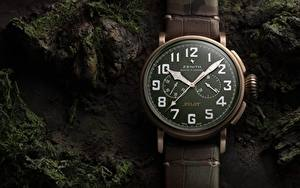 Bilder Hautnah Uhr Taschenuhr Zifferblatt Zenith Pilot Type 20