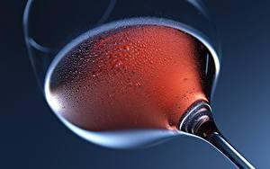 Bilder Nahaufnahme Weinglas Tropfen Untersicht Ansicht von unten Lebensmittel