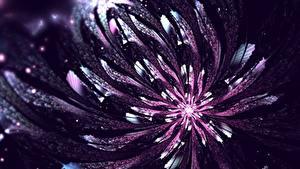 Bilder Großansicht Violett 3D-Grafik Blumen