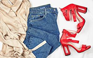Bilder Kleidung Jeans High Heels