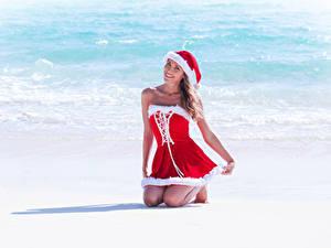 Fonds d'écran Côte Nouvel An Uniforme Chapeau d'hiver Les robes