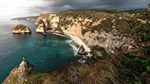 Fotos Küste Indonesien Felsen Nusa Penida
