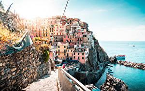 Bilder Küste Italien Gebäude Ligurien La Spezia Städte