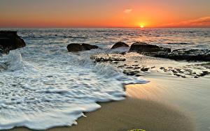 Hintergrundbilder Küste Meer Sonnenaufgänge und Sonnenuntergänge Horizont Sonne