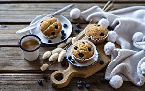 Hintergrundbilder Kaffee Heidelbeeren Keks Muffin Bretter Schneidebrett Trinkglas