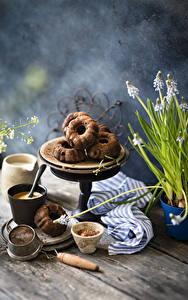 Fotos Kaffee Cappuccino Keks Bretter Becher das Essen