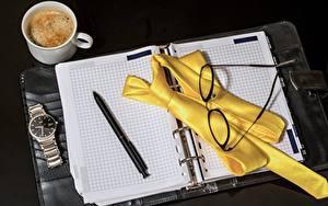 Image Coffee Clock Watch Notepad Ballpoint pen Necktie Eyeglasses Mug