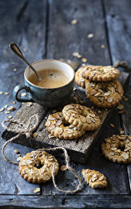 Images Coffee Cookies Cappuccino Boards Cup Food