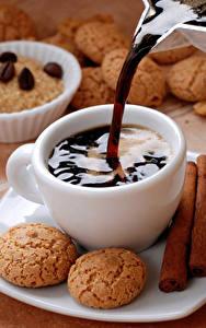 Fotos Kaffee Kekse Tasse Lebensmittel
