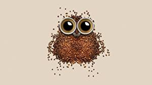 Bilder Kaffee Kreativ Eulen Getreide Tasse